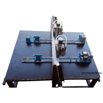 Двухшпиндельный фрезерно-гравировальный станок для балясин