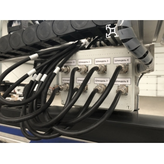 CNC-1515ST-D8 фрезерный ЧПУ станок многошпиндельный