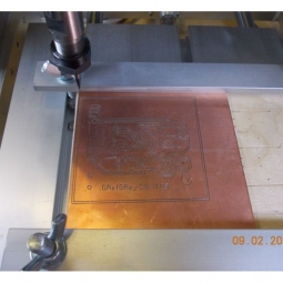 Настольный гравировально фрезерный станок 25х35 CNC-2535AL