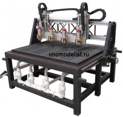 CNC-2020ST-D фрезерный ЧПУ станок многошпиндельный