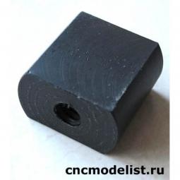 Ходовая гайка из графитонаполненного капролона трапецеидальная резьба TR10x2